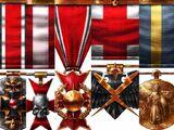 Medallas y condecoraciones del Imperio