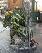 Guardia Imperial de Praetoria enfrentandose a una XV104 Cataclismo