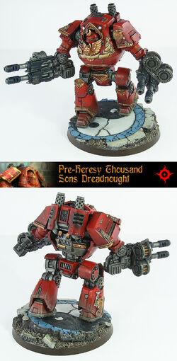 Miniatura preherejia mil hijos dreadnought contemptor