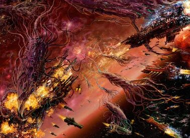 Tiranidos bionaves vs flota imperial