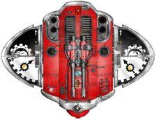 Caballero Cruzado Poder Rojo; vista superior