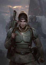 Guardia imperial cadia fuerzas de choque soldado