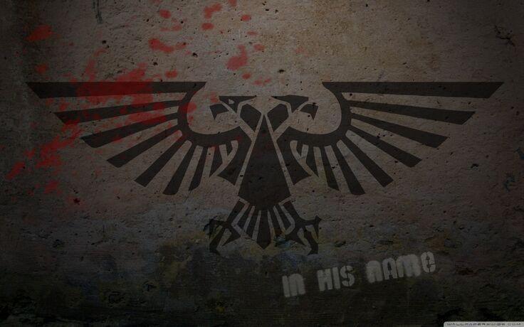 Warhammer 40k logo graffiti-wallpaper-1440x900