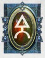 Simbolo eldar runa bipodes de combate