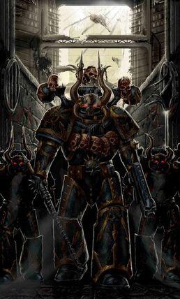 Caos marines traidores legion negra wikihammer