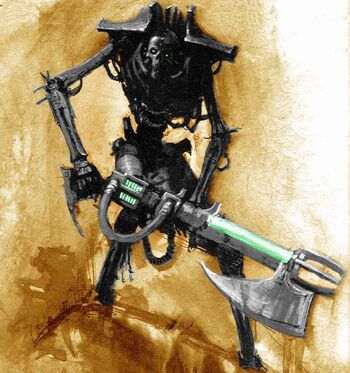 Guerrero Necron Rifle Desollador Gauss Wikihammer