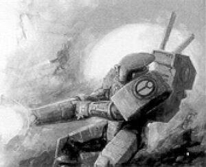 Armadura Mimética XV15 Sombra en combate