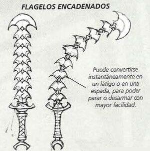 Flagelos encadenados Eldars Oscuros 5ª Edición ilustración