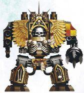 Grifos Aullantes Venerable Dreadnought Confesor Capellan Armand Titus Marines Espaciales Astartes Wikihammer