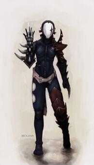 Eldar oscuro bruja con brazales hydra wikihammer