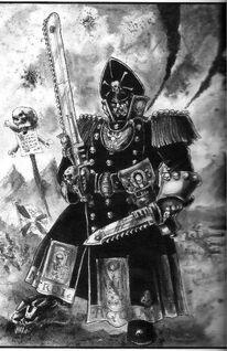 Guardia imperial comisario espada sierra BN