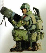 Gi tropas desembarco elisianas arma pesada plasma
