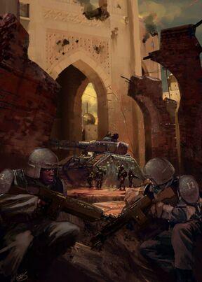 Guardia imperial ocupación tropas caos