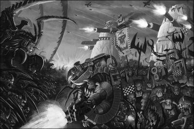 Orkos vs tiranidos BN