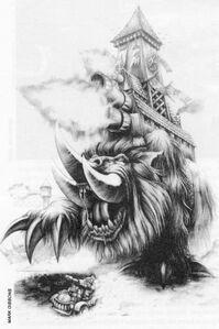 Garrapato Mamut Orkos Epic Mark Gibbons ilustración