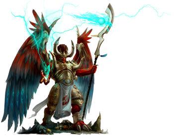 Magnus Príncipe Demonio Mil Hijos Caos 7ª Edición ilustración