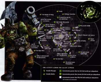 Mapa galaxia orkos actividad