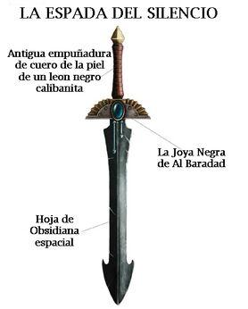Arma espada del silencio angeles oscuros