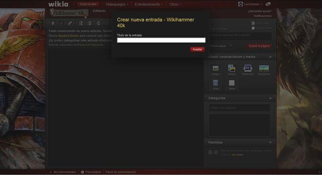 Hacer Crear un Blog Wikia wikihammer 4