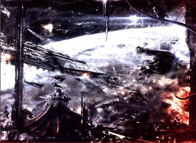 Kheron Ophion Amos de la Noche Batalla de Kalleth Garras Cenicientas FW ilustración