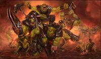Orkos vs guardia imperial avance arrollador