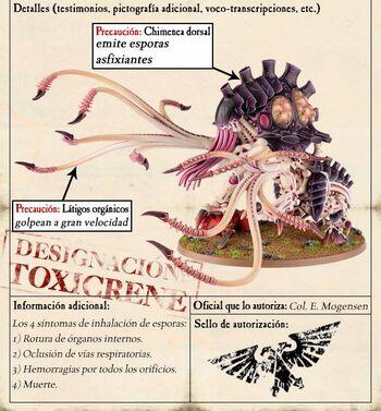 Toxicreno Toxicrene Tiránido warhammer 40k wikihammer