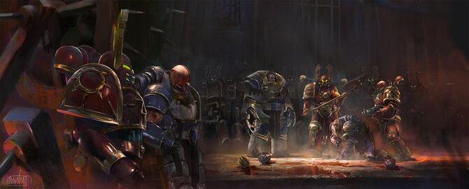 Caos devoradores de mundos kharn transformacion legion