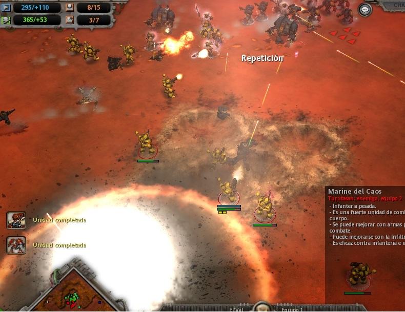 44 Los Ultramarines bombardean las posiciones defensivas del Caos y las asaltan sin ninguna piedad.