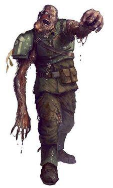 Caos nurgle soldado imperial zombie