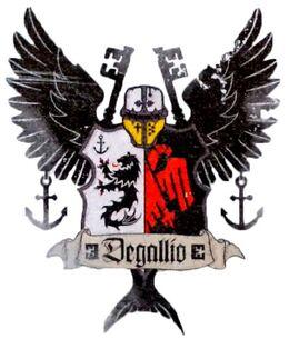 Caballeros emblema degallio