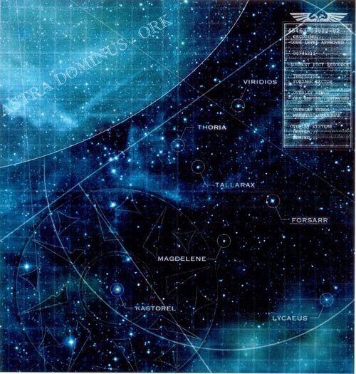 Mapa Sector Forsarr Segmentum Tempestus Galaxia Wikihammer