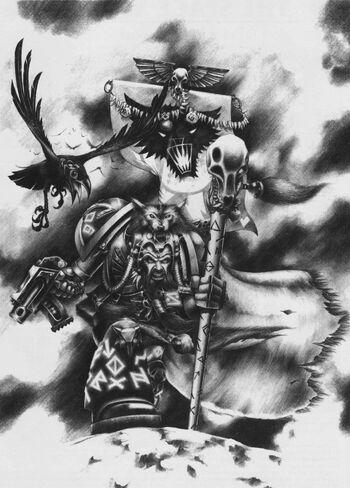 Njal Stormcaller Lobos Espaciales Mark Gibbons 2ª Edición ilustración