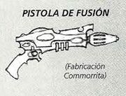 Pistola de fusión Eldars Oscuros 5ª Edición ilustración