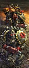 Caos hijos de horus marines del caos combate