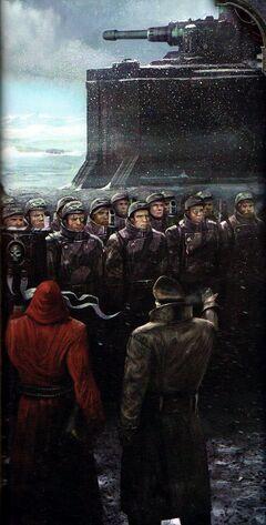 Guardia Imperial formación de Valhalianos wikihammer