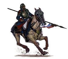 Jínete de la Guardia de los Korps de la Muerte de Krieg