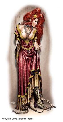 Caos mutante mujer cortesana