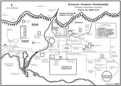 Mapa ciudad magna macragge
