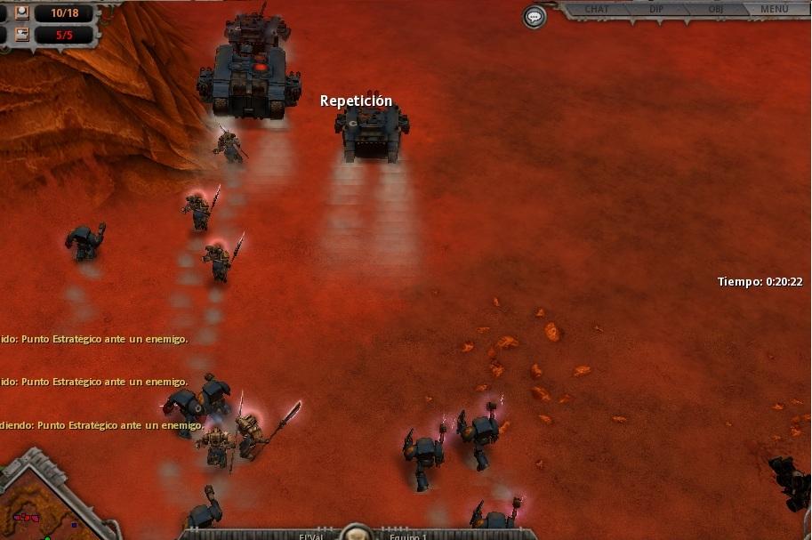 60 Los Ultramarines avanzan con los blindados a la cabeza.