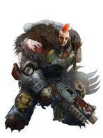 Marines lobos espaciales hermano de batalla cresta wikihammer