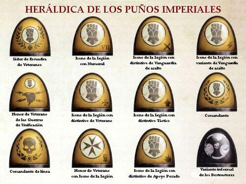 Marines puños imperiales rangos hombreras