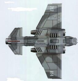 Vista Ventral Thunderbolt 717 Ala de Cazas Camuflaje Asedio de Vraks Aeronaves Armada Imperial Wikihammer