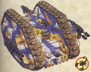Escorpiones Rojos Land Raider Esquema Camuflaje Cobalto Amonio Galen V Marines Espaciales Astartes Wikihammer