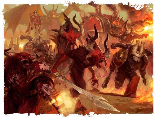 Caos tropas de khorne ataque