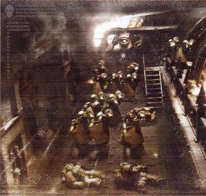 Puños Imperiales abordan una nave