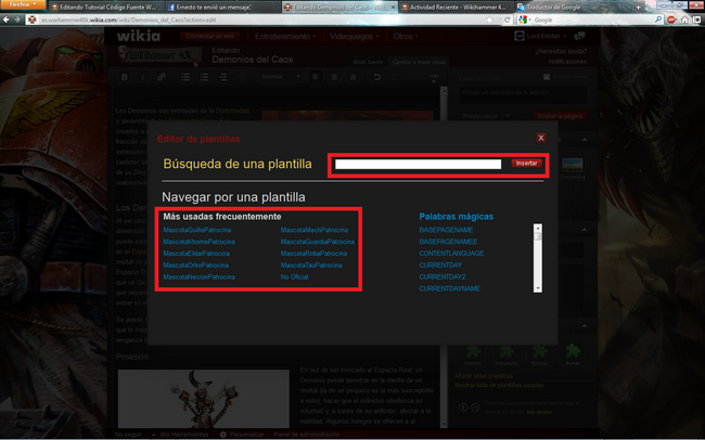 Tutorial Plantillas Wikia 2