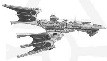 Crucero ligero clase Aurora Eldar BFG ilustración