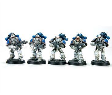 Escuadra de Combate Táctica servoarmadura Mk II Cruzada Devoradores de Mundos