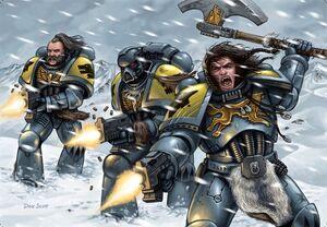 Guardia del Lobo atacando