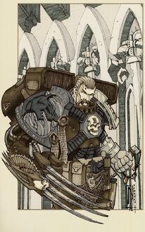 Guardianes de la Muerte Fanart Lobos Espaciales Garras Relampago Ordo Xenos Wikihammer